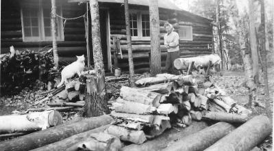 Violet Wallace Halls Lake Higgins Log Cabin